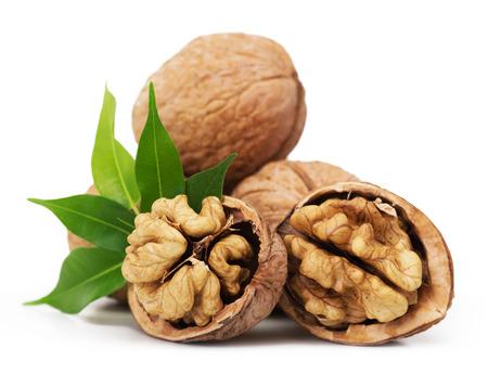 Walnut closeup isolated on white background Stockfoto
