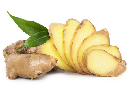 Fresh ginger isolated on white background