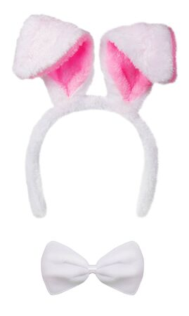 Rabbit ears isolated on white background Banque d'images