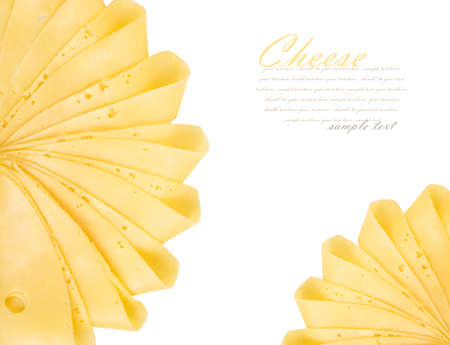 cheez: Cheese slices isolated on white background
