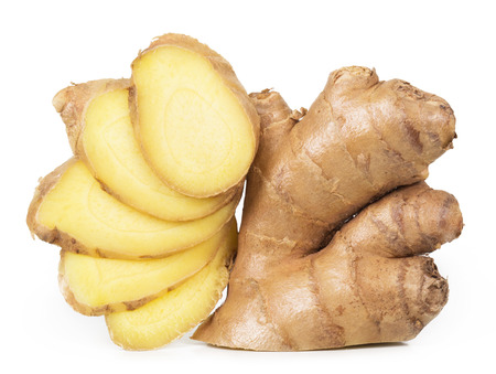 Fresh ginger isolated on white background Фото со стока - 41109483