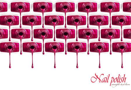 nail polish background: Red nail polish background.