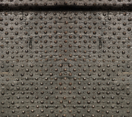 forged: Texture of ancient wood with metal rivets