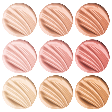 Collection smear foundation for the face. Banque d'images