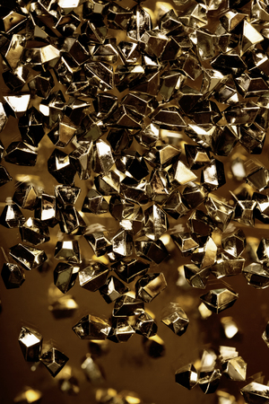 Shiny background. Background of gold particles. New Year, Christmas background for your design. Stock Photo