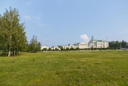 classicism: The photo of the old part of Yekaterinburg city with classicism style houses  Kharitonov House