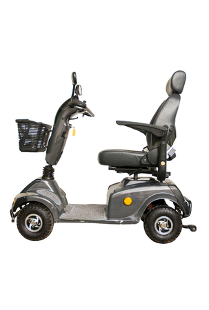 Electric mobility scooter on white background