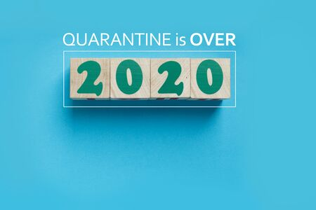 Quarantine of 2020 is over after coronavirus pandemic in the world. Reopening of business and services, back to normal life Archivio Fotografico