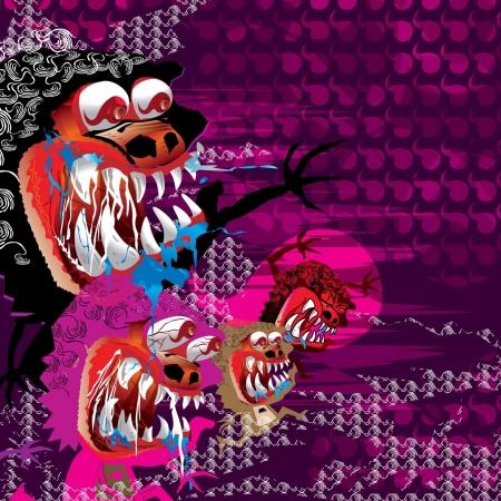 Illustration - Monster Family