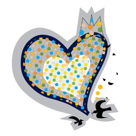 Illustration - Love Birds Stock Vector - 13918436