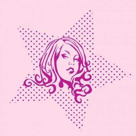 Illustration - Cosmic Girl Illustration