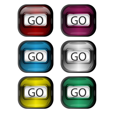 Liquid Button Go II Vector