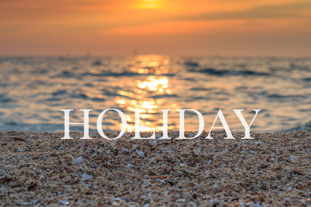 shinning: blurred sea at sunset ,concept holiday Stock Photo
