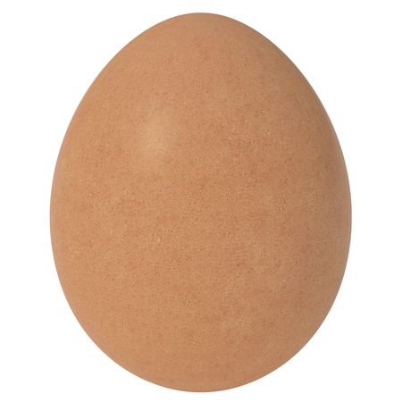 Isolated 3D Render Egg on White Background