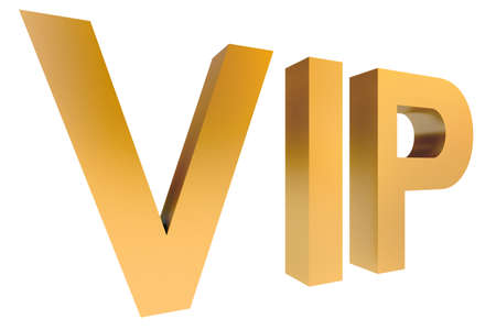 Isolate VIP Gold Font on White Background