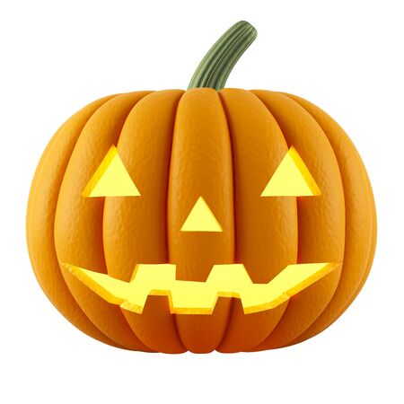 Halloween Pumpkin Isolated on White Background Stok Fotoğraf