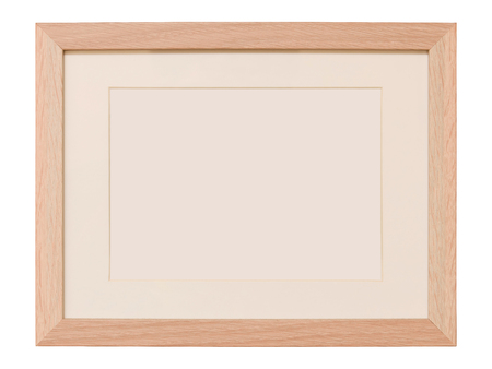 Wood Frame Isolated on White Background Stok Fotoğraf
