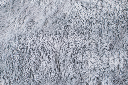 Closeup Grey Fur Rug