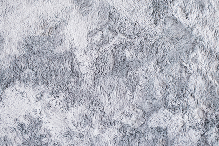 Closeup Grey Fur Carpet