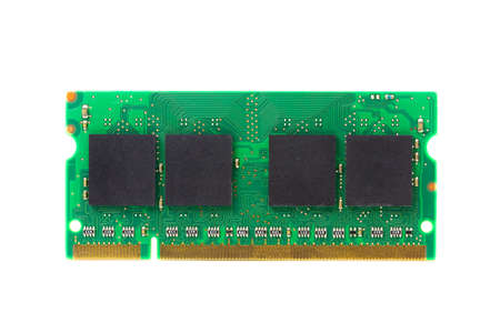Front laptop ram on white background.