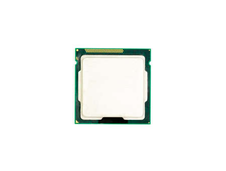 Central Processing Unit (CPU) computer isolated on white background.