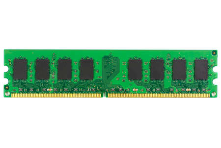 Random Access Memory (RAM) of computer isolated on white background. Stock Photo