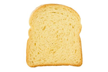 toast: Close up of a slice of bread isolated