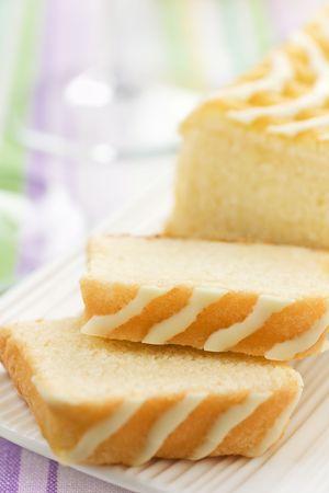 Beurre doux au citron et blanc chocolat Banque d'images
