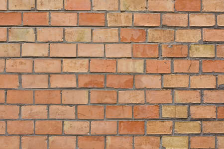 Close Up Of A Orange Brick Wall Background photo