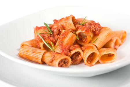 Close Up Of Italian Pasta and Sauce photo