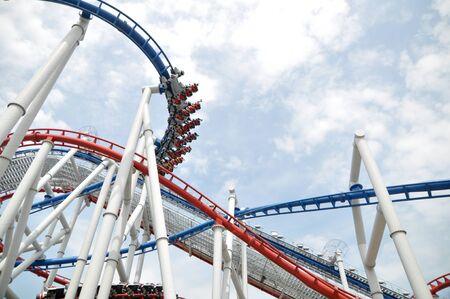 Roller coaster at Universal Singapore
