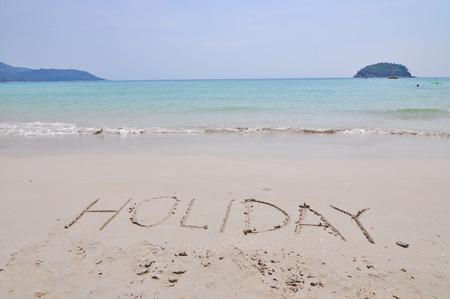 consonant: holiday at Phuket in Thailand.