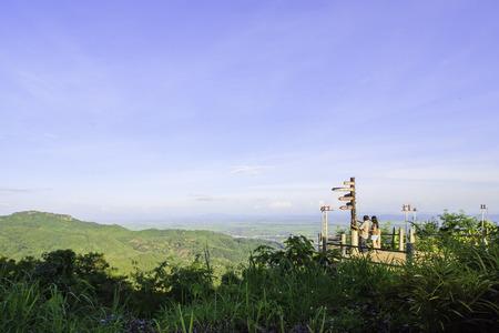 chiangrai: A viewpoint on the mountain range in a city, Chiangrai, Thailand.