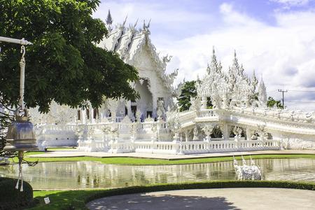 chiangrai: A beautiful white temple in Thailand, Chiangrai, Thailand.