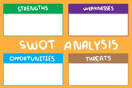 SWOT investigation diagram. Vettoriali