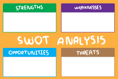 SWOT investigation diagram. Stock Illustratie