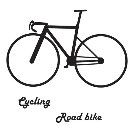 Fix bike cartoon style for sign, web, print, business, vector illustration Eps 10.