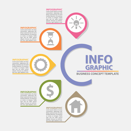 Creative concept for abstract infographics background template design with text box, number options, icons can use for education, presentation, report and project management, workflow layout, diagram, business concept, banner, web design, vector illustration Eps 10.