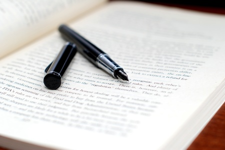 Pen and book photo