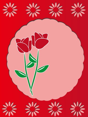 Red rose vector card  Vector