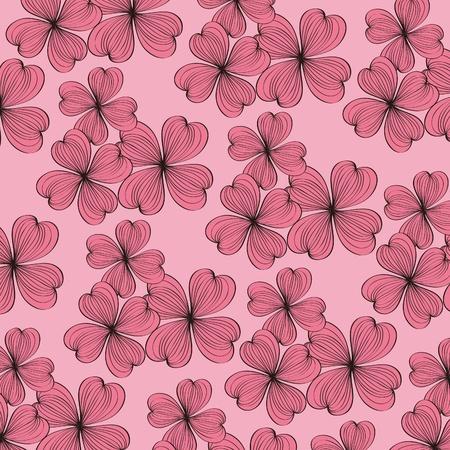 Seamless flower pattern background,vector Vector