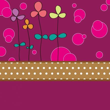 valentine s card: Flower card pattern design,vector