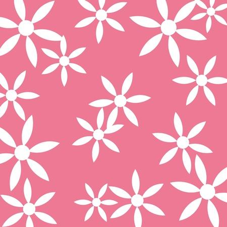 Seamless flower pattern pink background Illustration