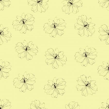 azal�e: Seamless motif floral sur fond, vecteur vert