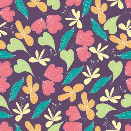 azal�e: Fleurs sans soudure motif feuilles, vecteur