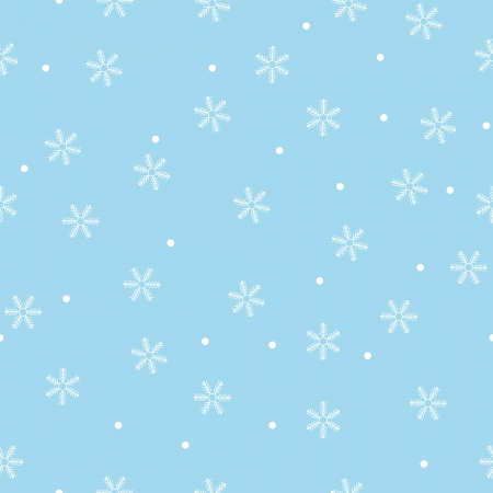 Seamless snowflake pattern blue background,vector Vector