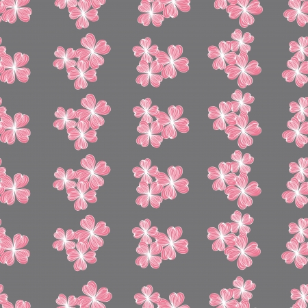 Seamless pink flower pattern,vector Stock Vector - 17374087