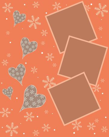 Snowflake orange card design,vector Stock Vector - 17374081