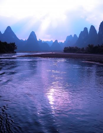 Beautiful yangshuo landscape in guilin, China photo