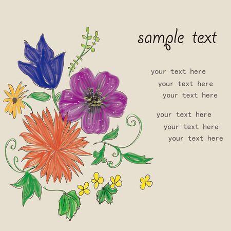 azal�e: Mod�le de carte de fleur